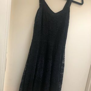 Free People Lace and Velvet Dress